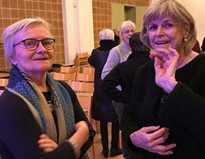 ElisabethFrey Harne i samtale med tidligere bestyrelsesmedlem Inger Humle Jørgensen
